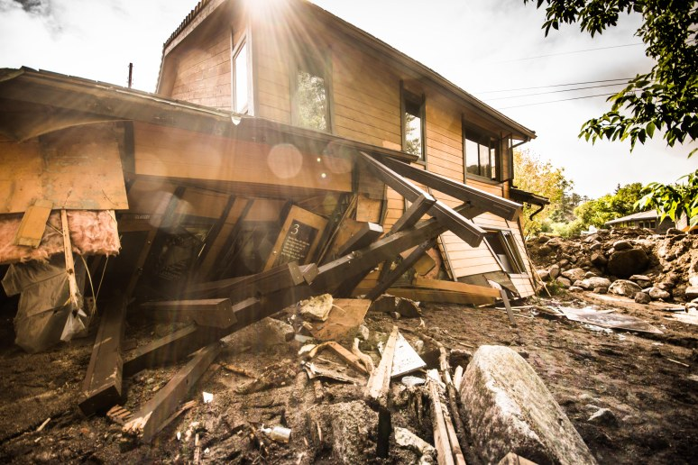 Split in two by raging flood waters - the worst of the worst damage in the city of Boulder.