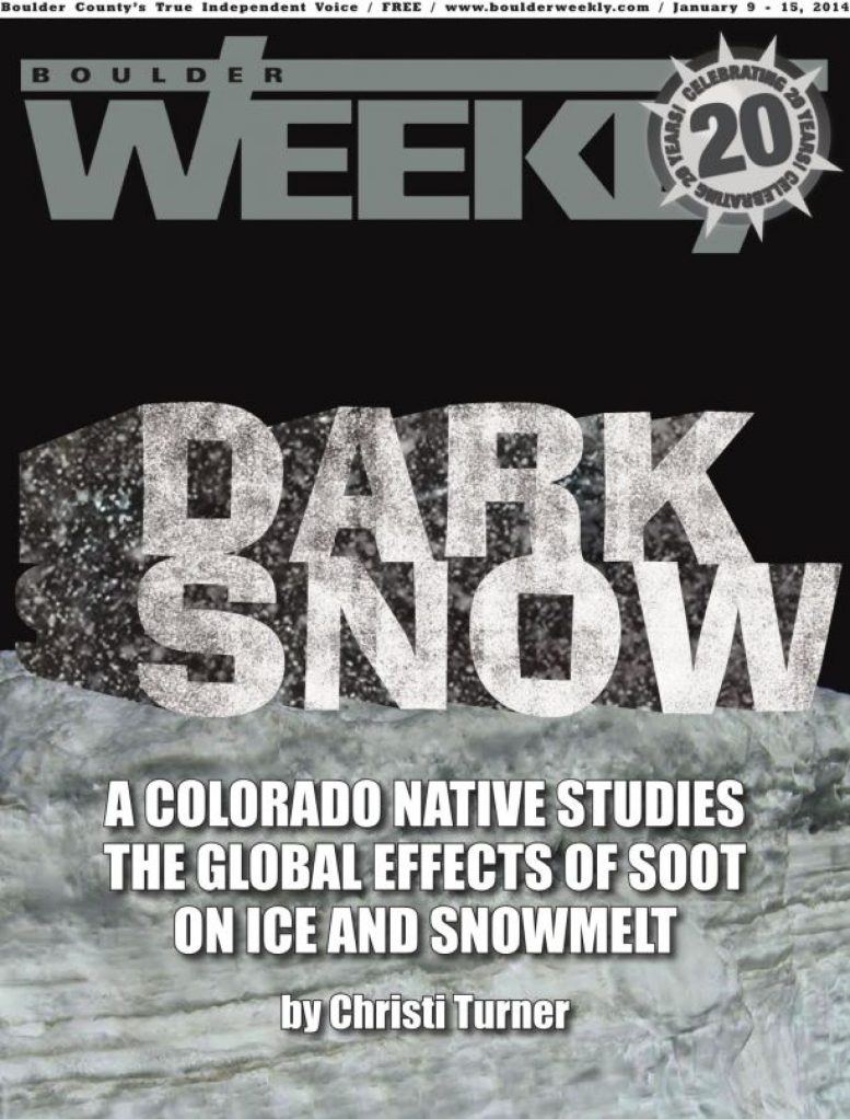 Boulder Weekly - A darker shade of snow_COVER